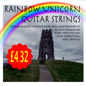 Glastonbury Rainbow Unicorn Guitar Strings