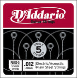 Plain Steel Singles Electric Guitar Strings