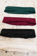Load image into Gallery viewer, Red, Green, Black and White Headband Set