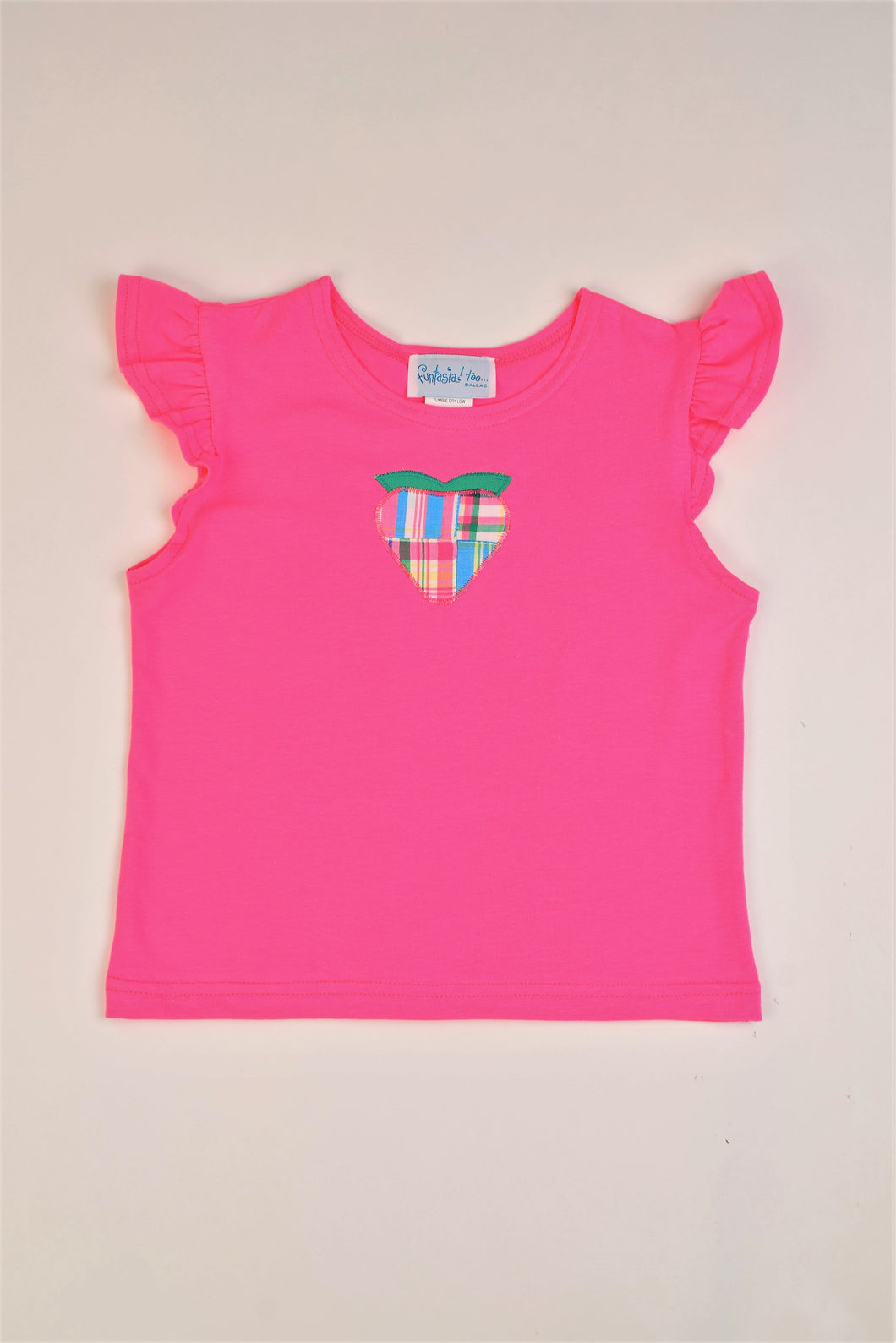 Girls Angel Sleeve Top Strawberry