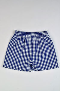 Boys Royal Check Shorts