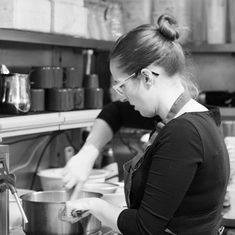 claire from sam joseph making salted caramel
