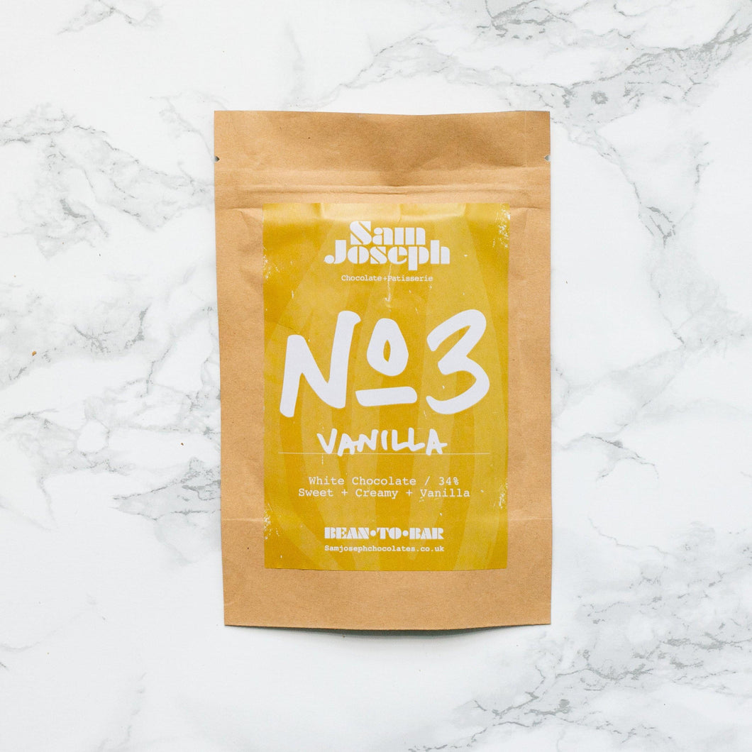 No3 | Vanilla | White Chocolate | 34% - Sam Joseph Chocolates