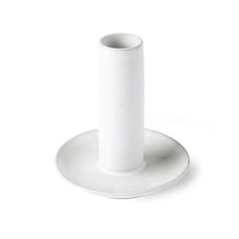 Load image into Gallery viewer, Ceramic candle holder size L, white