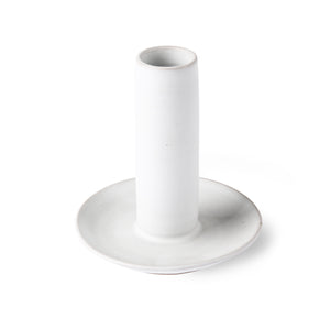 Ceramic candle holder size L, white
