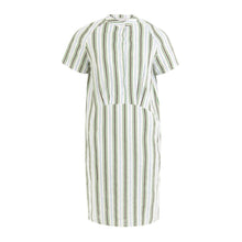 Load image into Gallery viewer, Shortsleeved dress with buttons and stripes