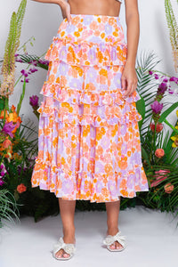 Berenice dress or skirt, flower print