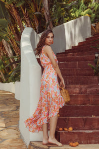 Dress Delina, flower print