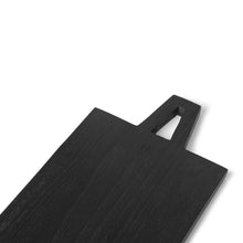 Load image into Gallery viewer, Black bread board square, size M 55 x 15 x 1,3 cm