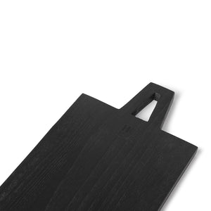 Black bread board square, size M 55 x 15 x 1,3 cm