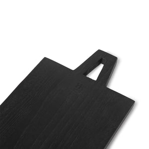 Black bread board square size L, 45 x 25 x 1,3 cm