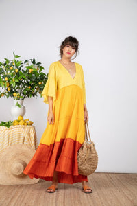 Agathe Mix Orange/Gold