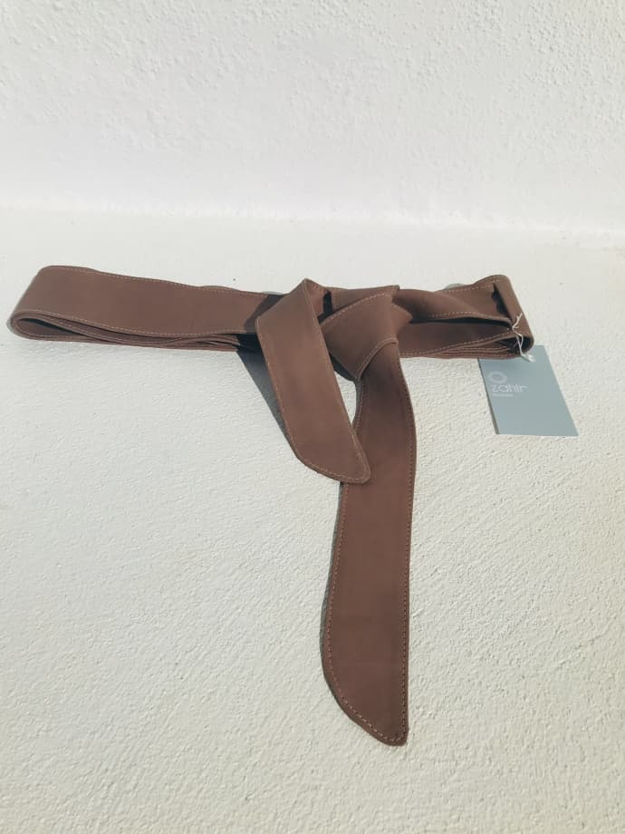 Cow Leather Wrap Belt