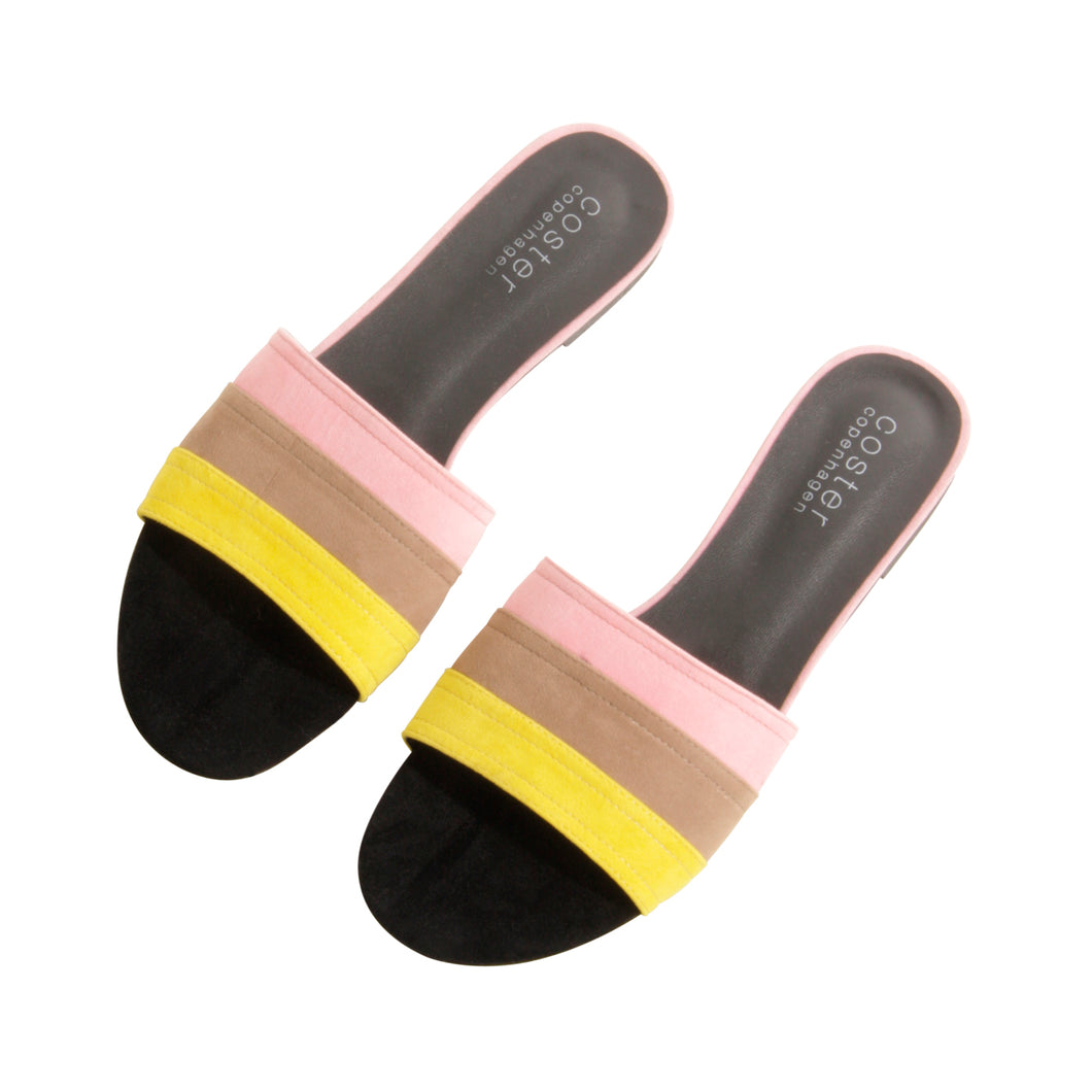 Slipper with three colours, multicolor - 832