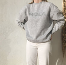 Load image into Gallery viewer, Sweat shirt marbled grey with Hola applique in silver
