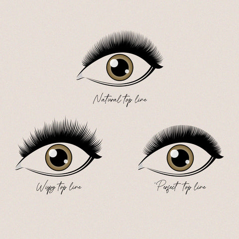 perfect top line, russian volume lashes, how to work with lash layers, how to get a wispy lash set