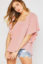 Load image into Gallery viewer, FLOWY BUTTERFLY BLOUSE-BLUSH