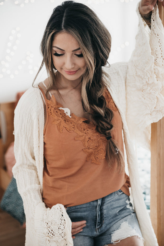 Clay So Fierce Lace Cami