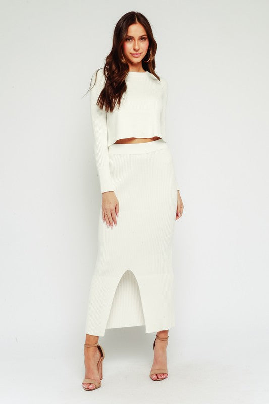 Snowed In Skirt Ivory