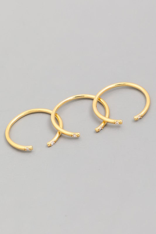 Dipped Gold Ring Set