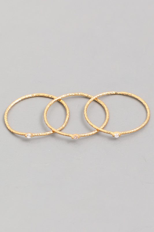 Lea Three Ring Set Gold