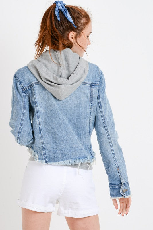 Denim For Days Hoodie Jacket