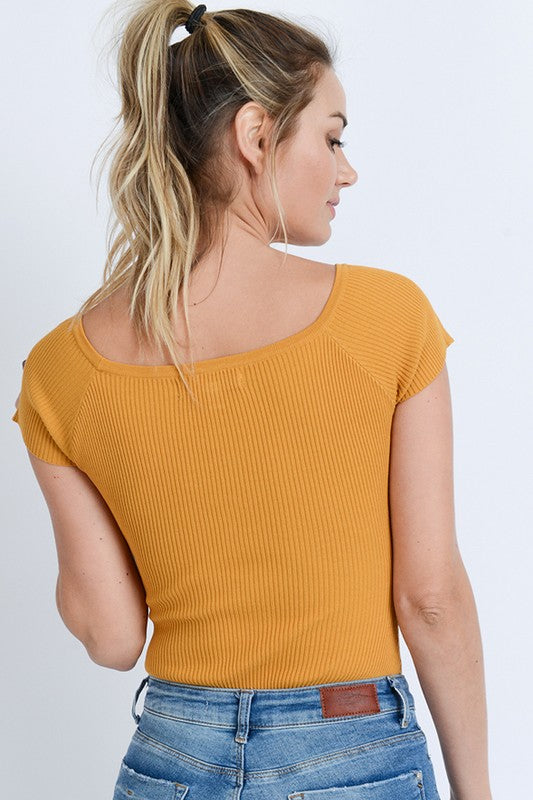 Feel Good Bodysuit Mustard