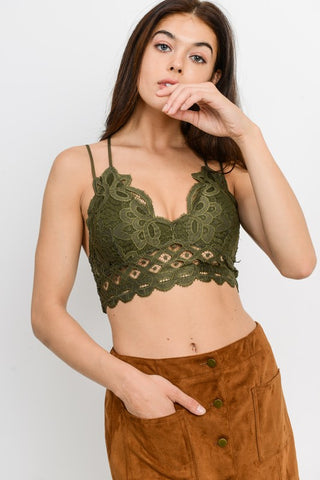 Love on You Lace Bralette Marigold