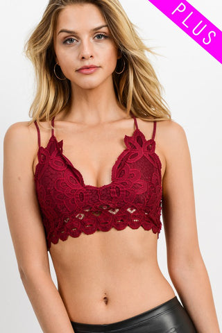 Love on You Lace Bralette Cocoa