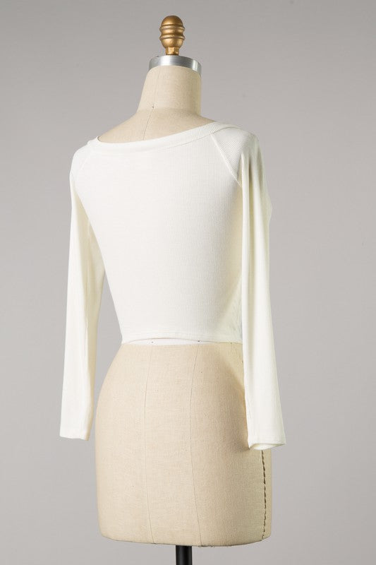Spring Breeze Crop Top Ivory