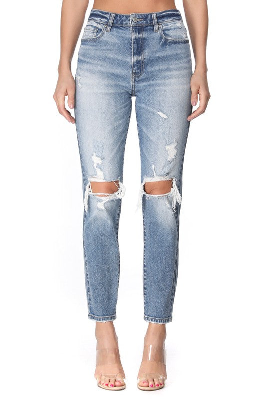 Tobi High Rise Jeans Medium Wash