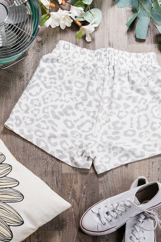 Lounge Style Leopard Shorts