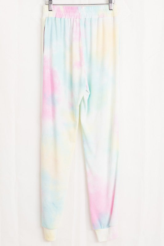 It's Magic Tie Dye Joggers Pink