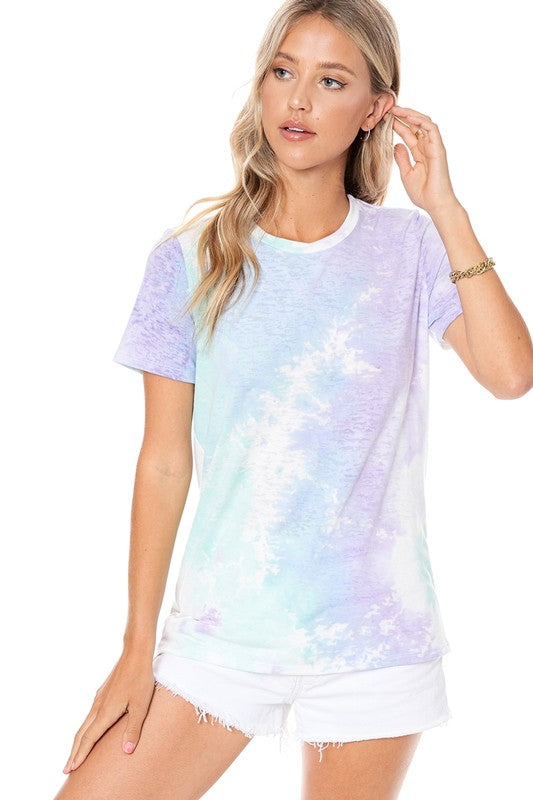 Sparkle Tie Dye T-Shirt Blue