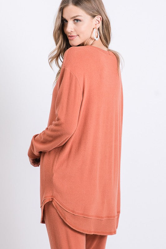Softer Side Tunic Rust