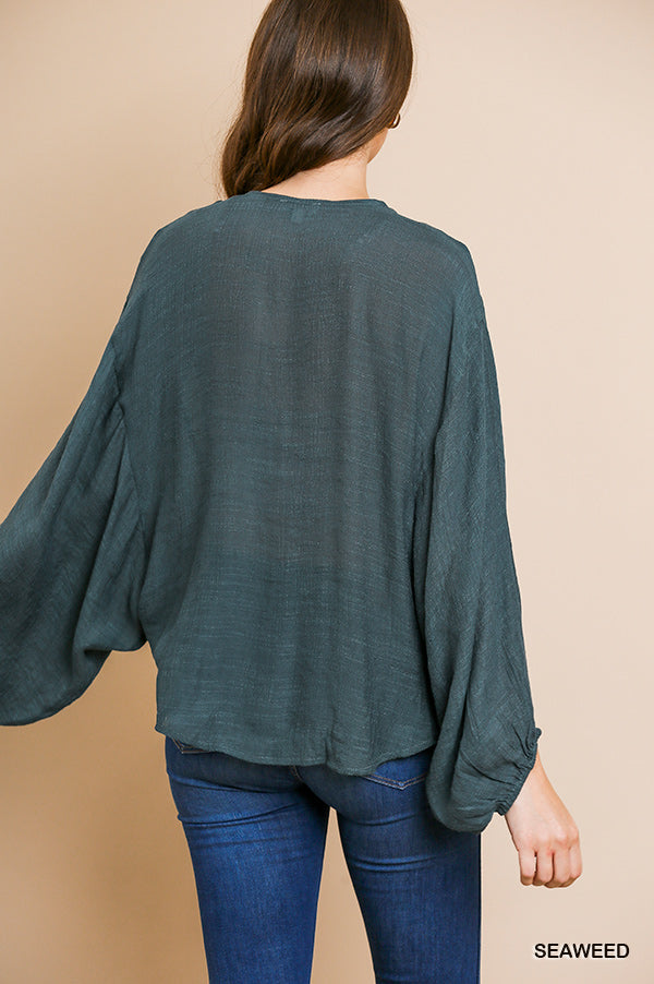 Emerald Lakes Blouse Teal