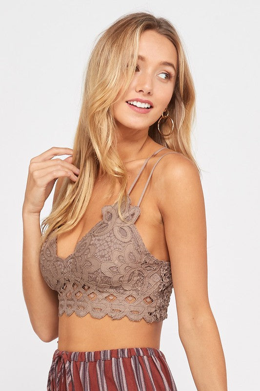 Pre Order: Love on You Lace Bralette Cocoa