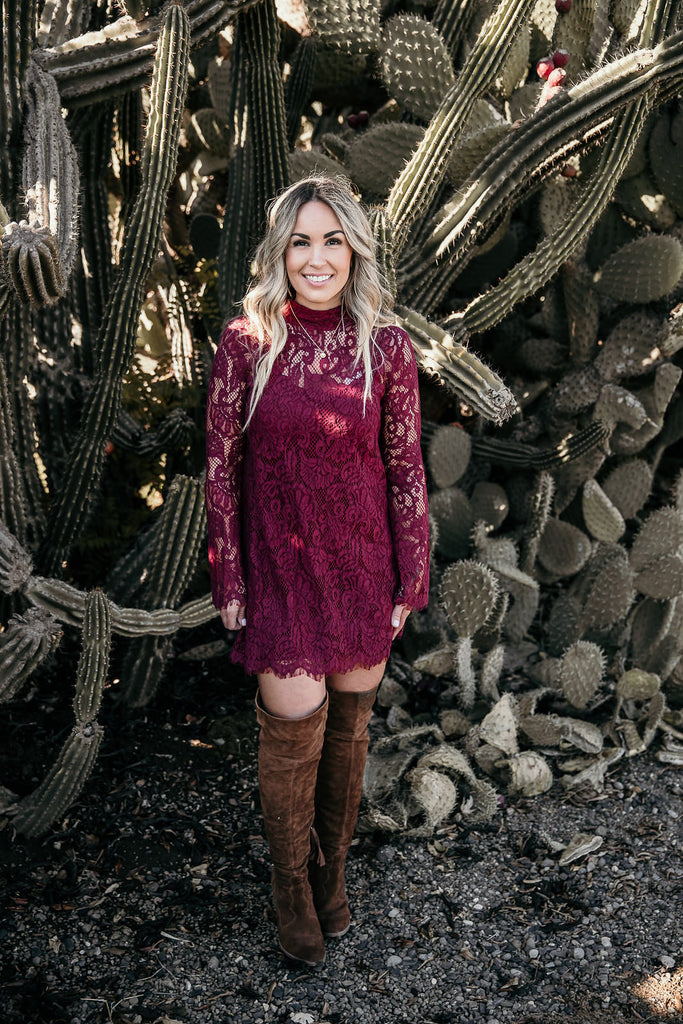 Burgundy Carly Dress