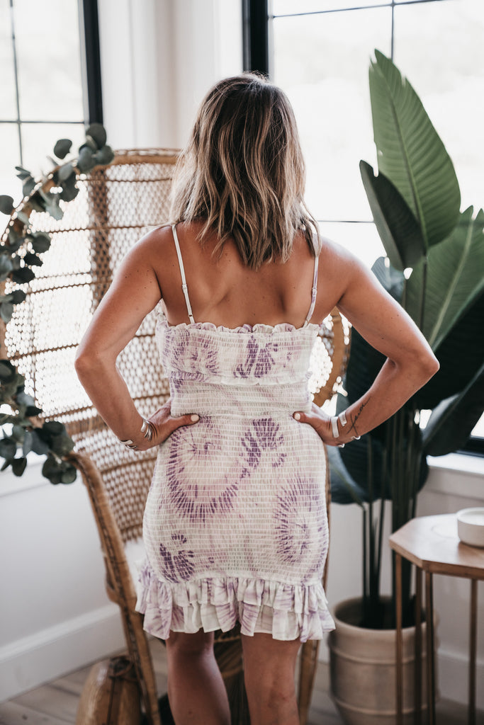 Brighter Days Tie Dye dress Purple