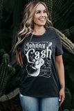 Johnny Cash T-Shirt Faded Black