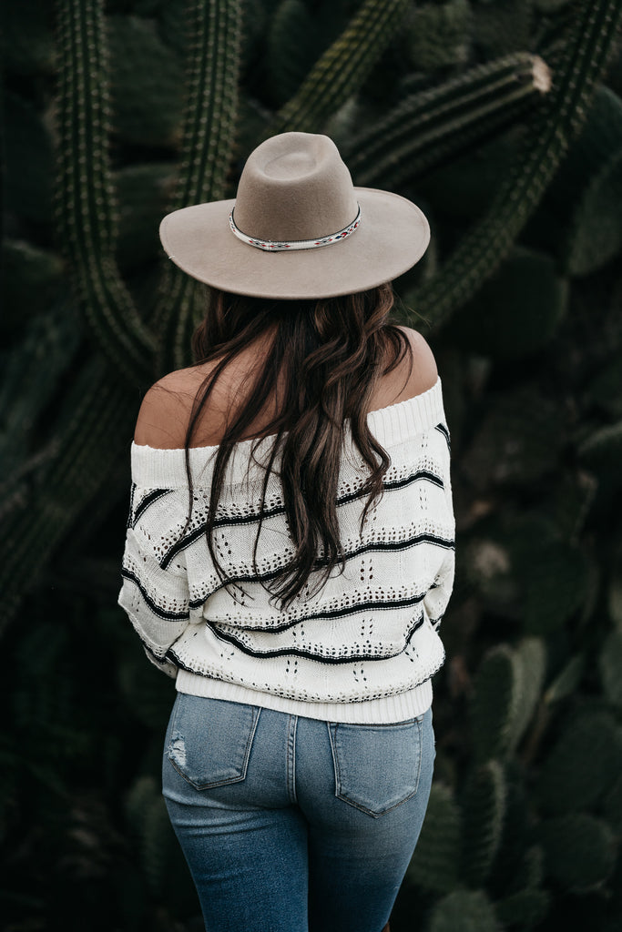 Stay Awhile Stripe Sweater