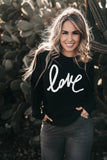 Love Sweatshirt Black
