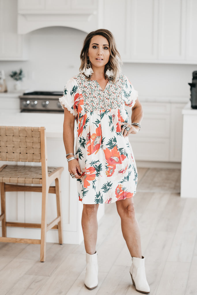 Playful Floral Dress