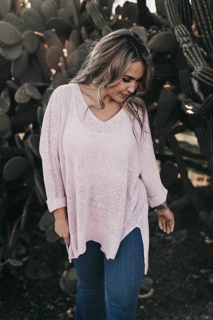 Fall Feelings Knit Top Lilac