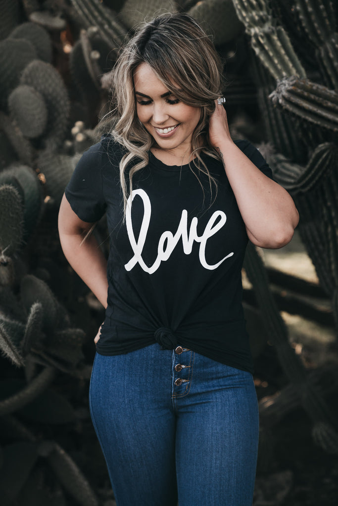 Love T-Shirt Faded Black