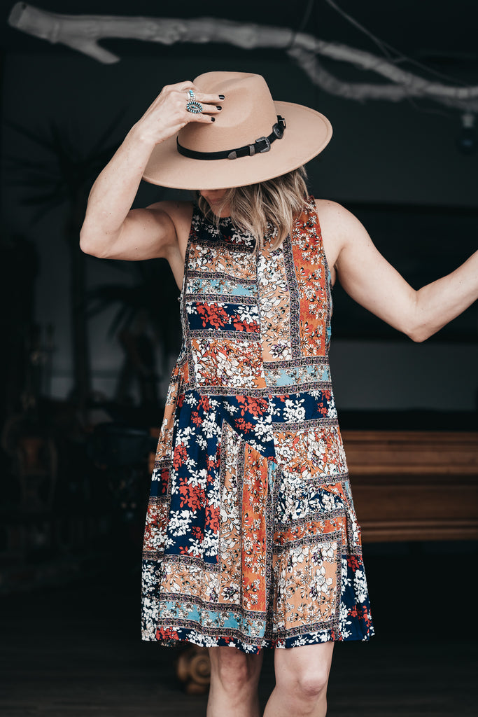 Playful Floral Print Dress