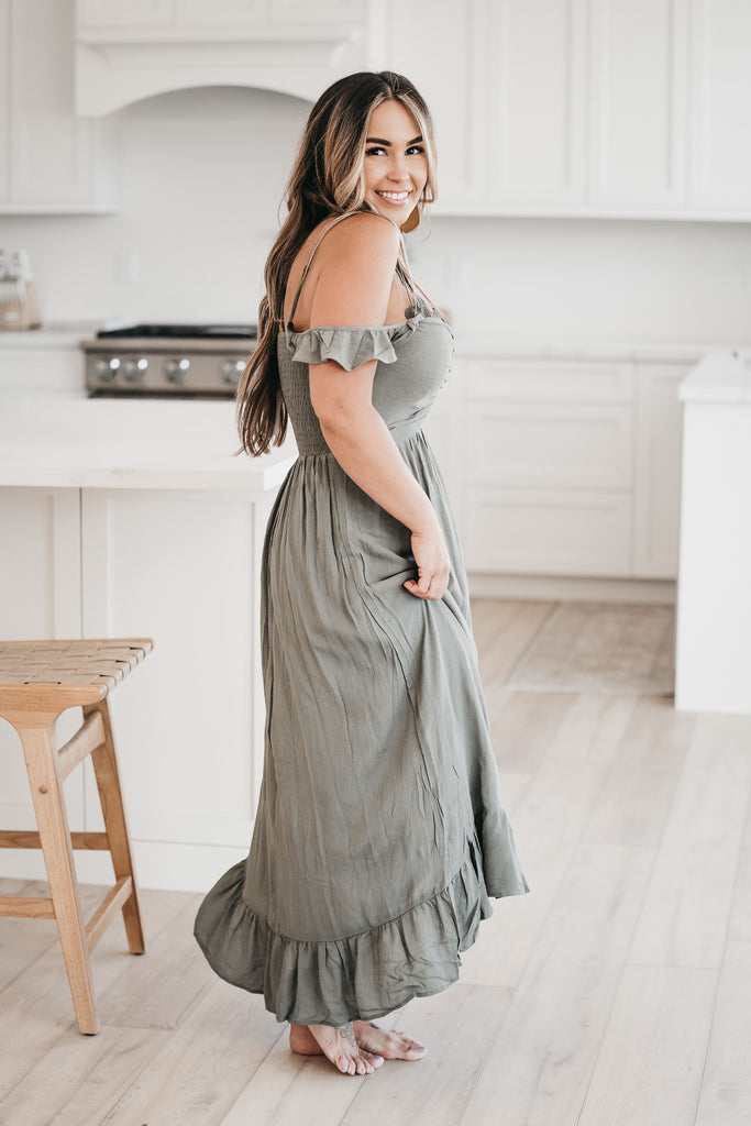 Blissful Days Maxi Dress Olive
