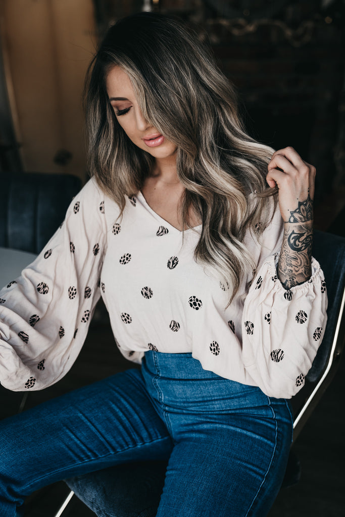 Safari Balloon Sleeve Top