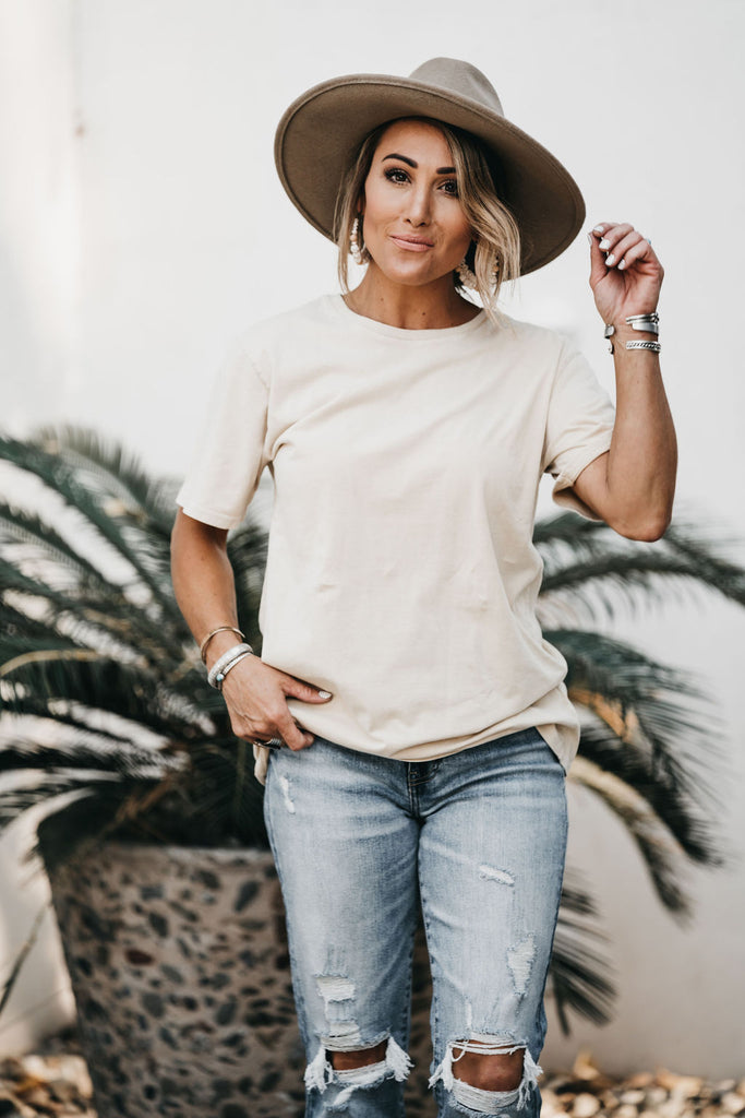 Everyday Basic Tee Khaki