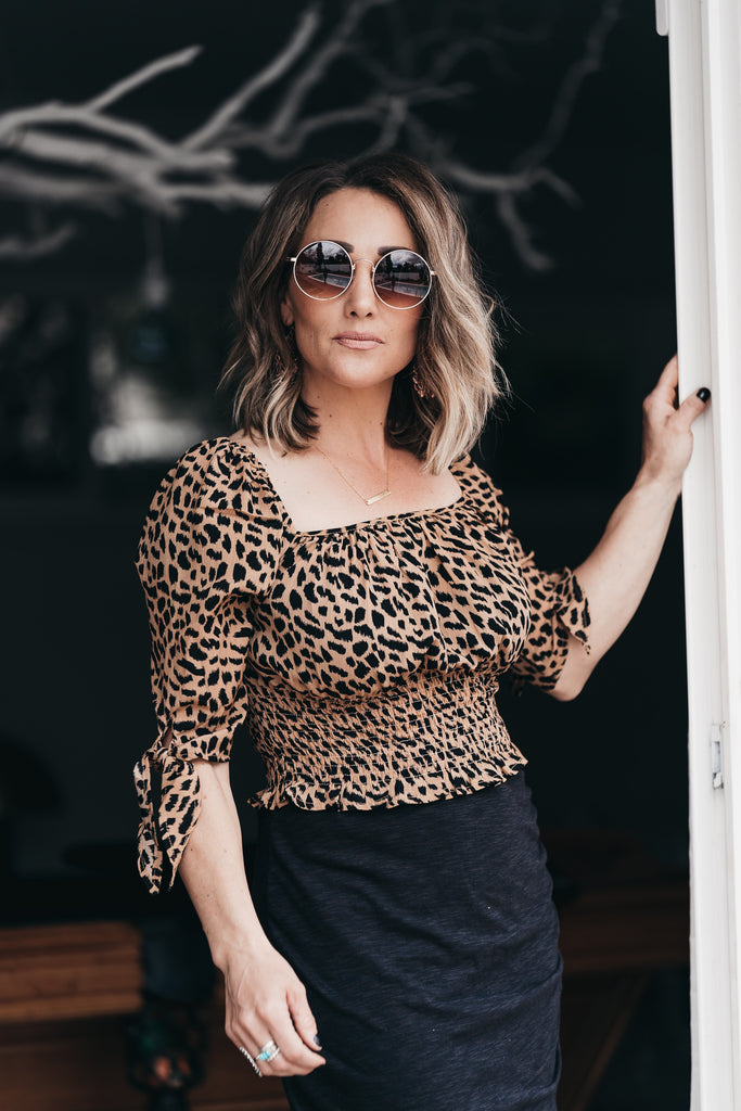 Sweet + Chic Leopard Blouse